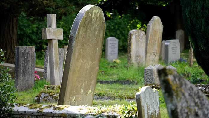 Cemetery as symbol of our mortality