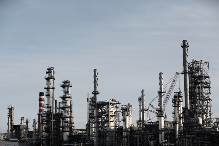 Refinery as a symbol of industrial scale pollution