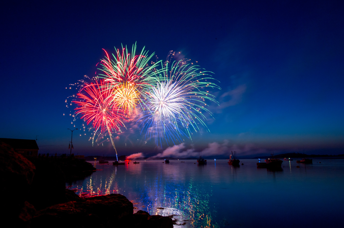 Fireworks in Lubec, United States.